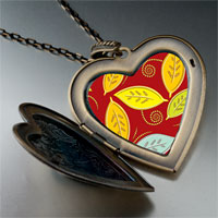 Necklace & Pendants - leaves photo italian large heart locket pendant necklace Image.