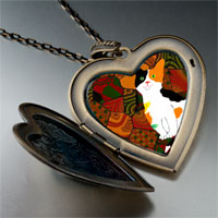 Necklace & Pendants - color kitten photo italian large heart locket pendant necklace Image.