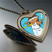 Necklace & Pendants - blind justice photo italian large heart locket pendant necklace Image.