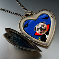 Necklace & Pendants - puppy gentleman photo italian large heart locket pendant necklace Image.