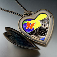 Necklace & Pendants - cat photo italian large heart locket pendant necklace Image.