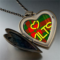 Necklace & Pendants - love kilts photo italian large heart locket pendant necklace Image.