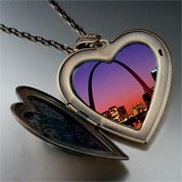 Necklace & Pendants - night scene photo italian large heart locket pendant necklace Image.