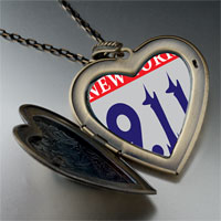 Necklace & Pendants - new york words heart flower heart locket pendant gifts for women necklace Image.