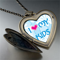 Necklace & Pendants - i heart kids photo large heart locket pendant necklace Image.