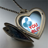 Necklace & Pendants - blow air large heart locket pendant necklace Image.