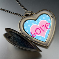 Necklace & Pendants - pink love heart large heart locket pendant necklace Image.