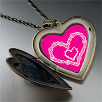 Necklace & Pendants - layered hearts large heart locket pendant necklace Image.