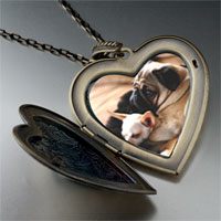 Necklace & Pendants - puppy pals large heart locket pendant necklace Image.