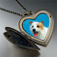 Necklace & Pendants - australian terrier large heart locket pendant necklace Image.