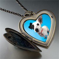 Necklace & Pendants - parson russell terrier large heart locket pendant necklace Image.