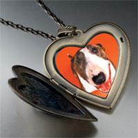 Necklace & Pendants - fox terrier large heart locket pendant necklace Image.