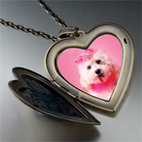 Necklace & Pendants - pink poodle large heart locket pendant necklace Image.