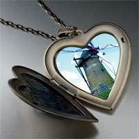 Necklace & Pendants - old new windmill large heart locket pendant necklace Image.