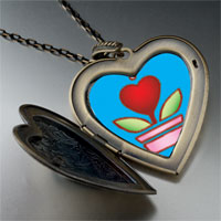 Necklace & Pendants - heart plant large heart locket pendant necklace Image.