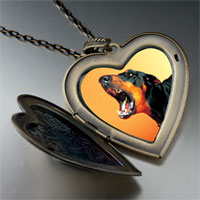 Necklace & Pendants - barking dog large heart locket pendant necklace Image.