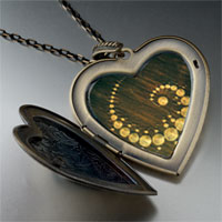 Necklace & Pendants - alien crop circles large heart locket pendant necklace Image.