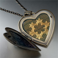 Necklace & Pendants - shell pattern large heart locket pendant necklace Image.