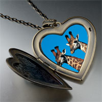 Necklace & Pendants - giraffes large heart locket pendant necklace Image.