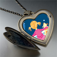 Necklace & Pendants - wishing on a star large heart locket pendant necklace Image.