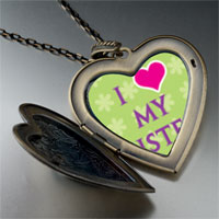 Necklace & Pendants - i heart sister photo large heart locket pendant necklace Image.