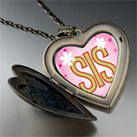 Necklace & Pendants - short sister large heart locket pendant necklace Image.