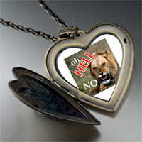 Necklace & Pendants - oh hell no lion large heart locket pendant necklace Image.