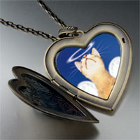 Necklace & Pendants - angel cat large heart locket pendant necklace Image.