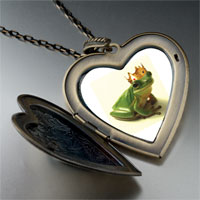 Necklace & Pendants - frog prince large heart locket pendant necklace Image.