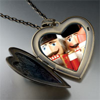 Necklace & Pendants - christmas nutcrackers large heart locket pendant necklace Image.
