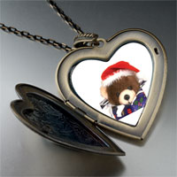 Necklace & Pendants - teddy bear present large heart locket pendant necklace Image.