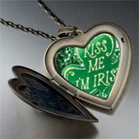 Necklace & Pendants - kiss i' m irish large heart locket pendant necklace Image.