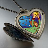 Necklace & Pendants - angel stars large heart locket pendant necklace Image.