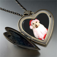 Necklace & Pendants - santa dog large heart locket pendant necklace Image.