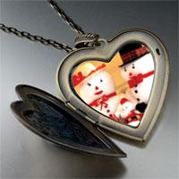 Necklace & Pendants - heart locket pendants mr &  christmas gifts snowman large heart locket pendant necklace Image.