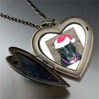Necklace & Pendants - christmas dog large heart locket pendant necklace Image.