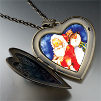 Necklace & Pendants - heart locket pendants santa frosty christmas gifts snowman large heart locket pendant necklace Image.