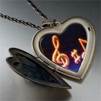 Necklace & Pendants - music note g treble clef photo large heart locket pendant necklace Image.