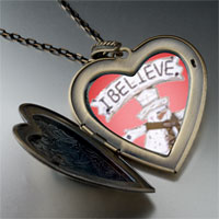 Necklace & Pendants - heart locket pendants i believe christmas gifts snowman large heart locket pendant necklace Image.