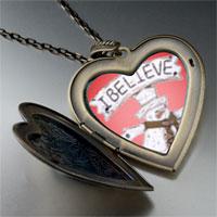 Necklace & Pendants - heart locket pendants i believe christmas gifts snowman large heart locket pendant necklace Image.