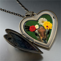 Necklace & Pendants - doe flowers large heart locket pendant necklace Image.