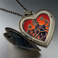 Necklace & Pendants - bodhisatva chenrezig statue large heart locket pendant necklace Image.