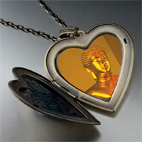 Necklace & Pendants - buddha large heart locket pendant necklace Image.