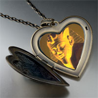 Necklace & Pendants - egyptian great sphinx large heart locket pendant necklace Image.