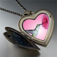 Necklace & Pendants - hummingbird photo large heart locket pendant necklace Image.