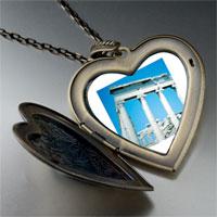 Necklace & Pendants - roman ruins large heart locket pendant necklace Image.