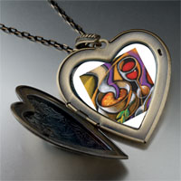 Necklace & Pendants - first course art large heart locket pendant necklace Image.