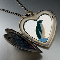 Necklace & Pendants - penguin look large heart locket pendant necklace Image.