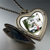 Necklace & Pendants - motor home vacation large heart locket pendant necklace Image.