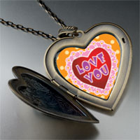 Necklace & Pendants - love pink large heart locket pendant necklace Image.